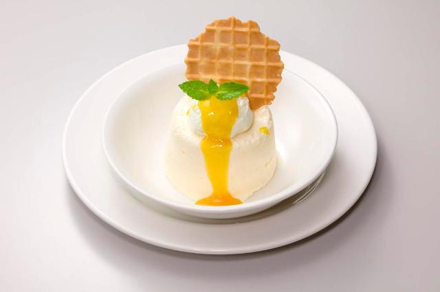 ガストマンゴーとマスカルポーネのバニラアイスケーキ写真