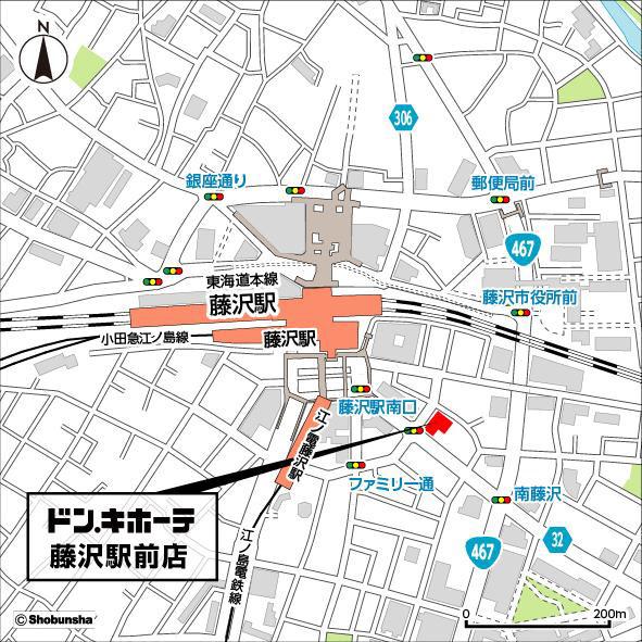 ドンキホーテ藤沢駅前店周辺地図