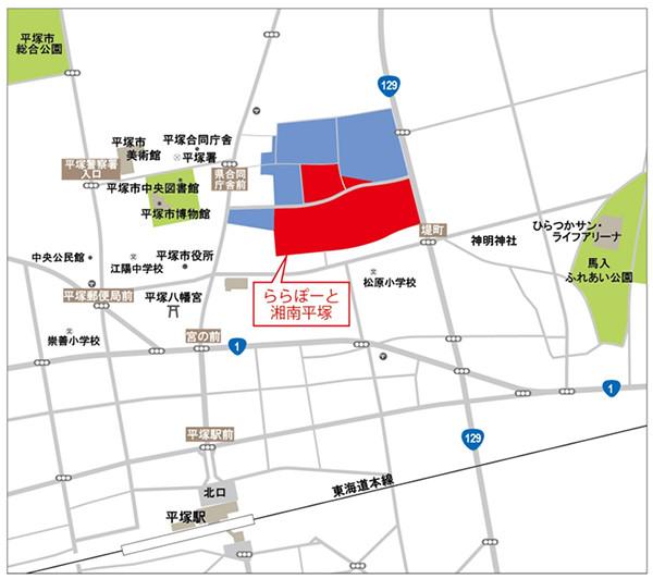 ららぽーと湘南平塚周辺地図