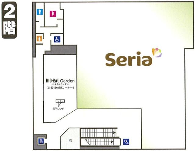 ビオラル靭店2階フロアマップ