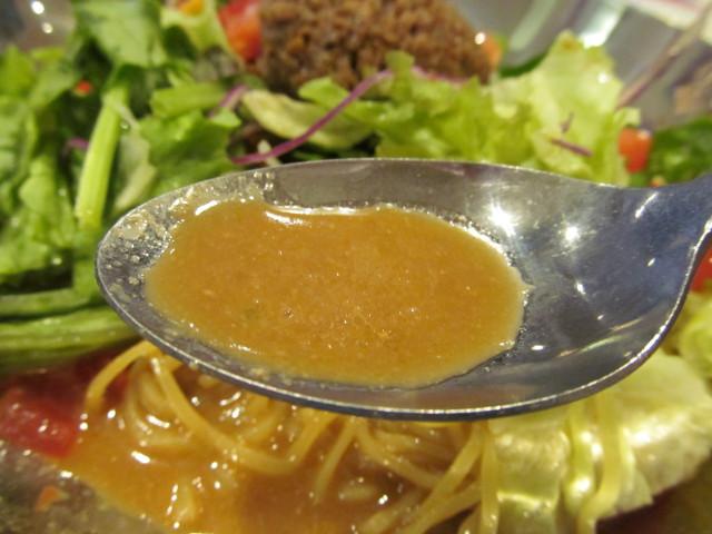 ガスト冷やしサラダタンタン麺のスープ