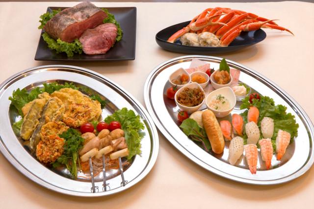 森の駅富士山団体用ビュッフェの料理たち