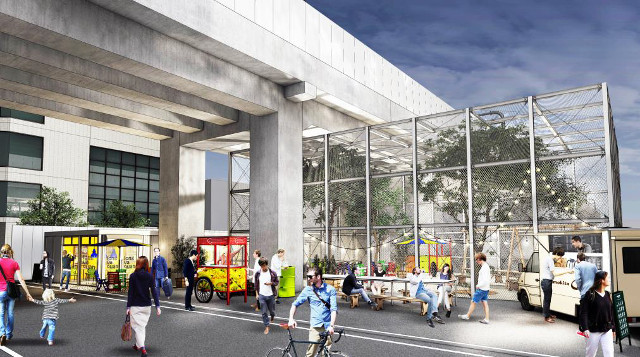 京王下北沢高架下プロジェクト完成予想図イメージ
