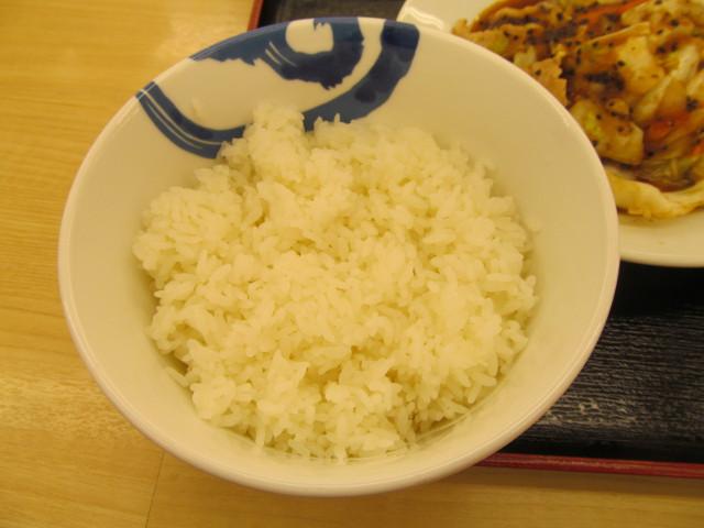 松屋スタミナ肉野菜炒めの大盛のライス