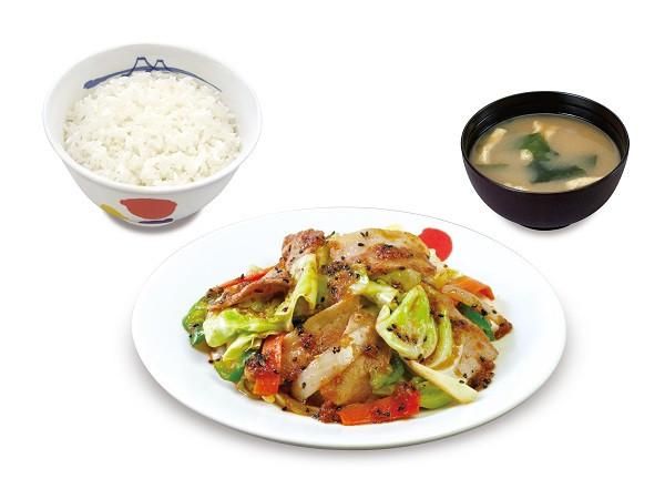 松屋スタミナ肉野菜炒め定食商品画像