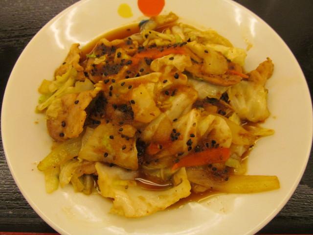松屋スタミナ肉野菜炒めの肉野菜炒め