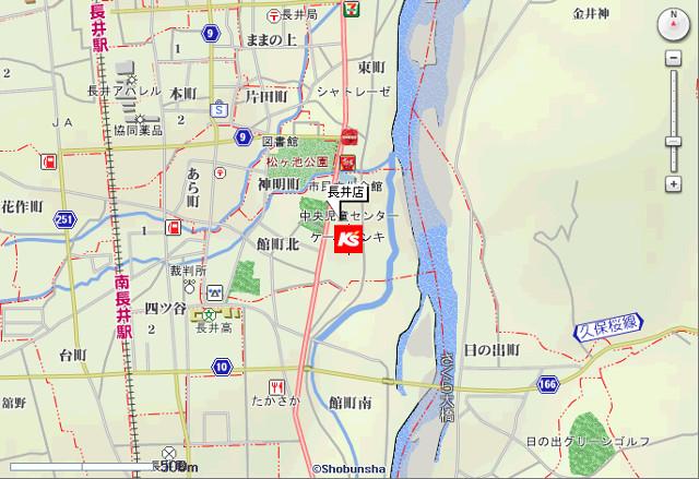 ケーズデンキ長井店地図