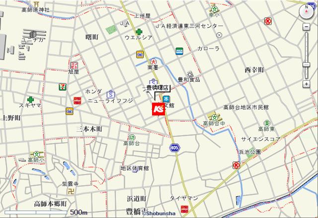 ケーズデンキ豊橋曙町店地図