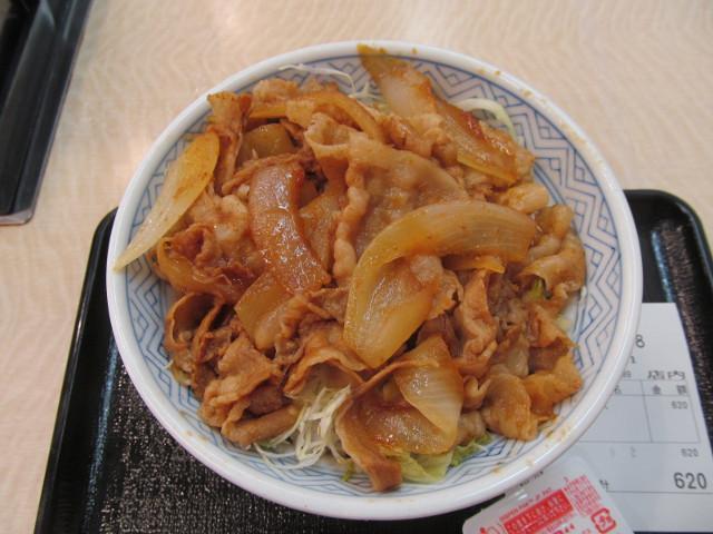 吉野家豚生姜焼丼大盛の丼