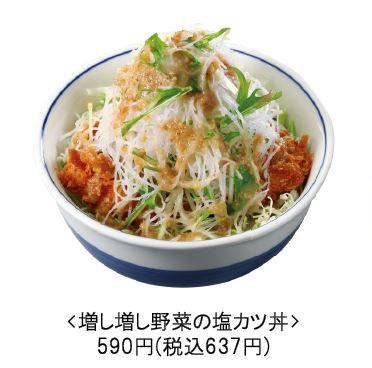増し増し野菜の塩カツ丼商品画像