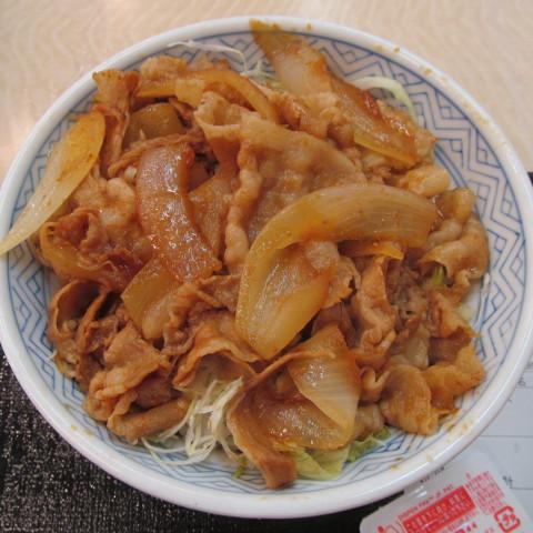 吉野家豚生姜焼丼大盛賞味サムネイル