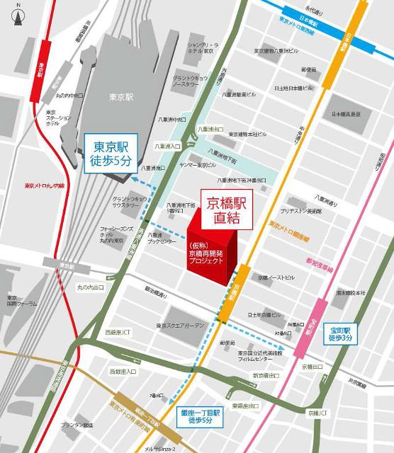 京橋エドグラン地図