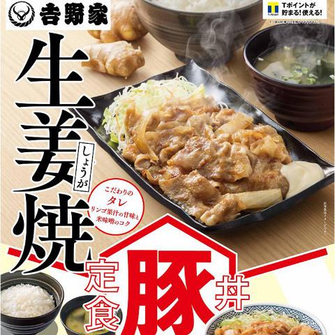 吉野家豚生姜焼定食and丼2016販売開始サムネイル