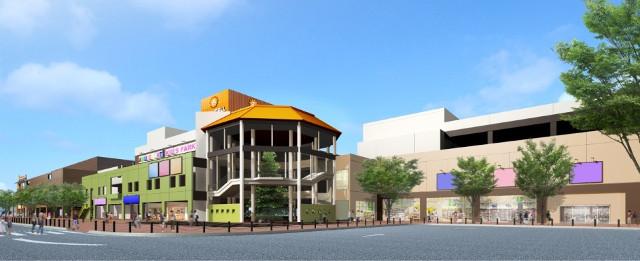 サニーサイドモール小倉下曽根駅方面からの外観イメージ