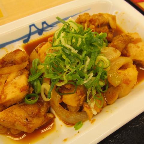 松屋鶏のバター醤油炒め定食大盛賞味サムネイル