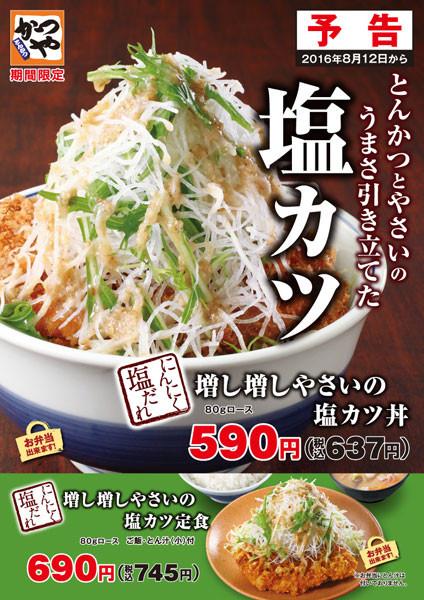 増し増し野菜の塩カツ丼and定食ポスター画像20160805