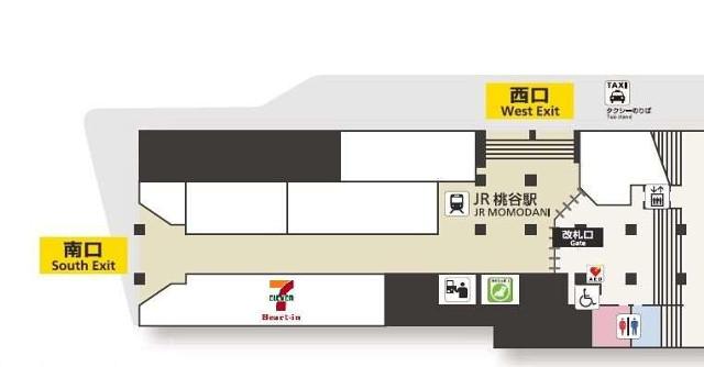 桃谷駅駅構内フロアマップ