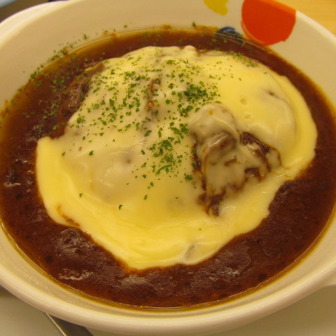 松屋チーズフォンデュハンバーグ定食大盛賞味サムネイル