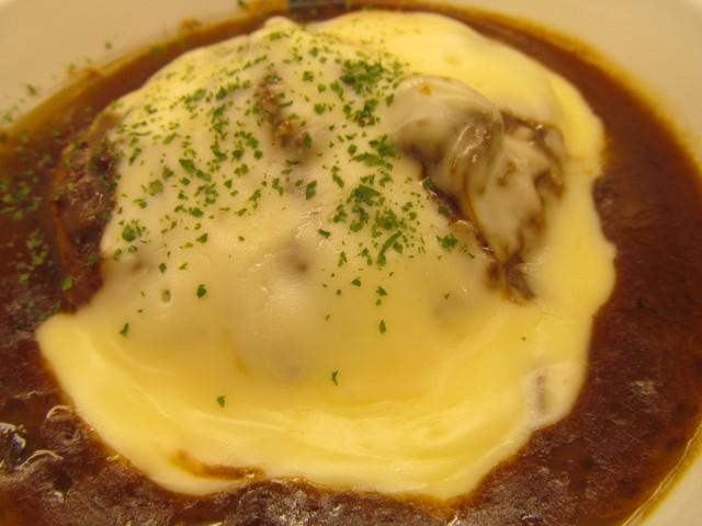 松屋チーズフォンデュハンバーグ定食のCFソース