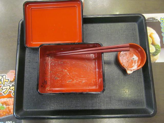 なか卯ローストビーフ丼を完食