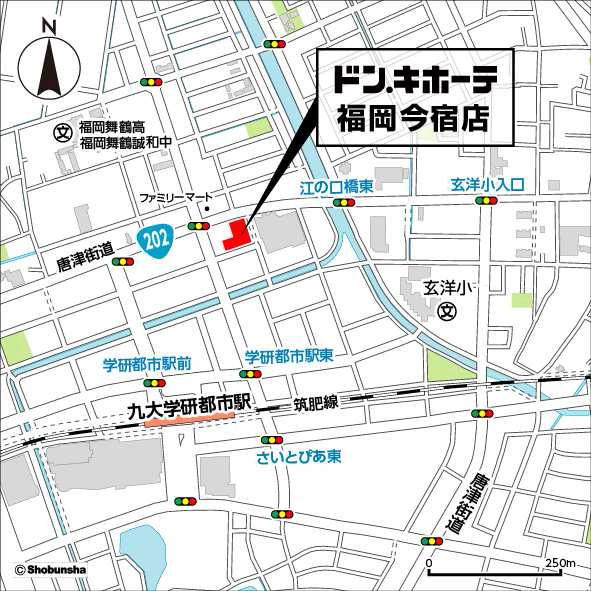 ドンキホーテ福岡今宿店地図