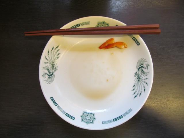 日高屋ヘルシーオリーブ麺を完食完飲