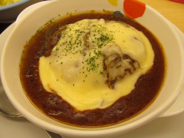 松屋チーズフォンデュハンバーグ定食のCFハンバーグ