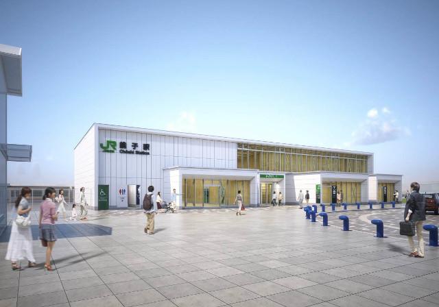 JR銚子駅新駅舎外観イメージ
