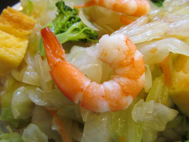 日高屋ヘルシーオリーブ麺の海老