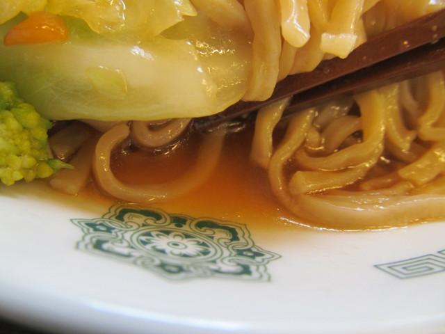日高屋ヘルシーオリーブ麺の汁
