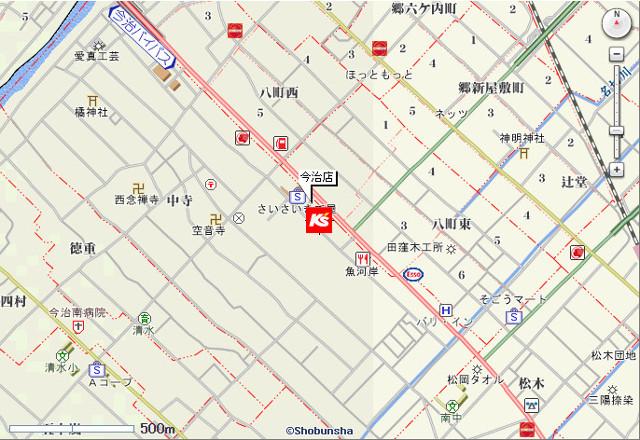 ケーズデンキ今治店地図