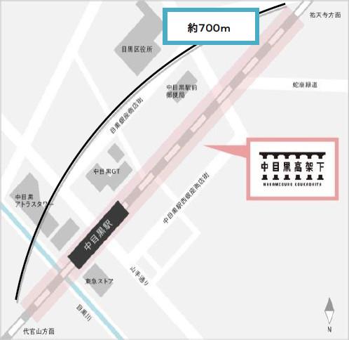 中目黒高架下地図