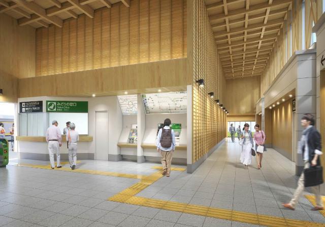 銚子駅新駅舎内観イメージ