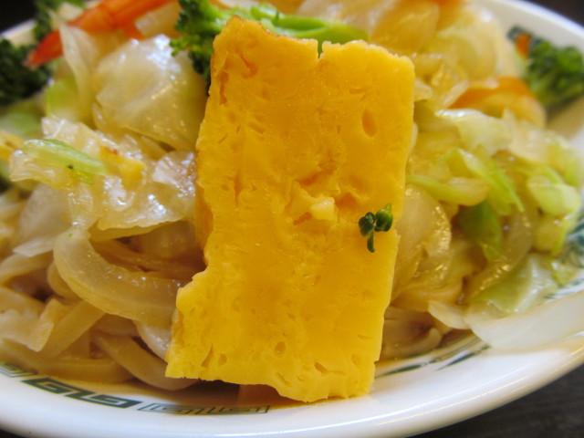 日高屋ヘルシーオリーブ麺の玉子焼き