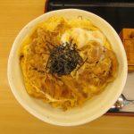 松屋プレミアム牛とじ丼大盛賞味サムネイル