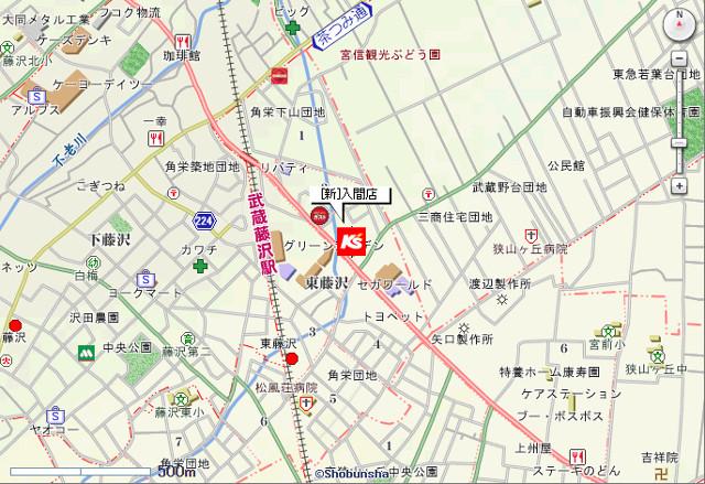 ケーズデンキ新入間店地図