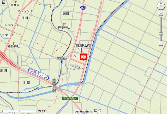 ケーズデンキ南陽高畠店地図