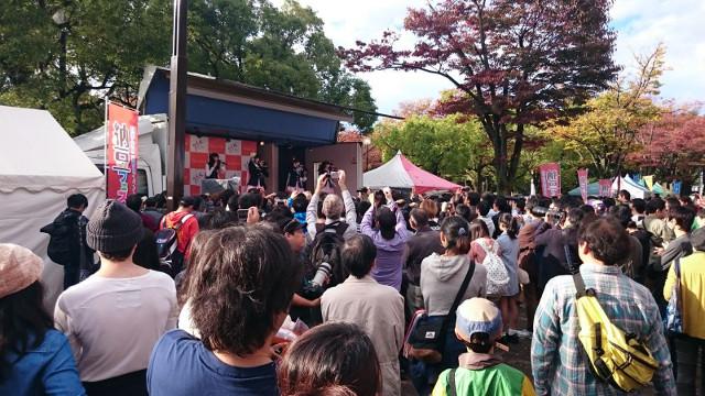 第1回納豆フェスタ2015のステージの様子