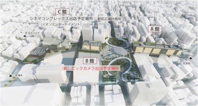 調布駅周辺開発計画全体イメージ20161027