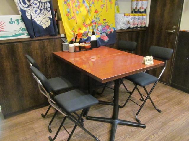 やんばる渋谷店のテーブル席20161017