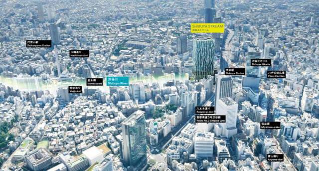渋谷ストリーム鳥瞰的な位置図20161024