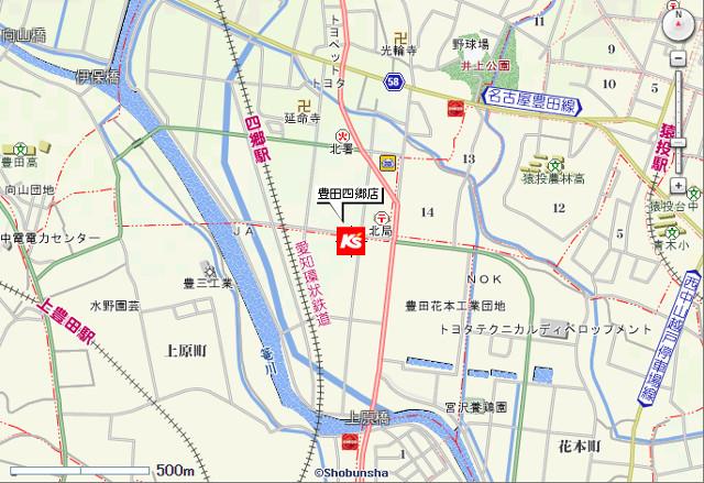 ケーズデンキ豊田四郷店地図