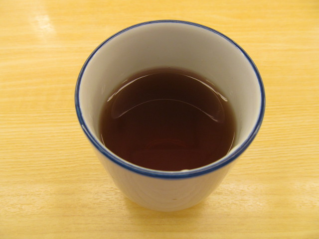 松屋の温かいお茶20161122