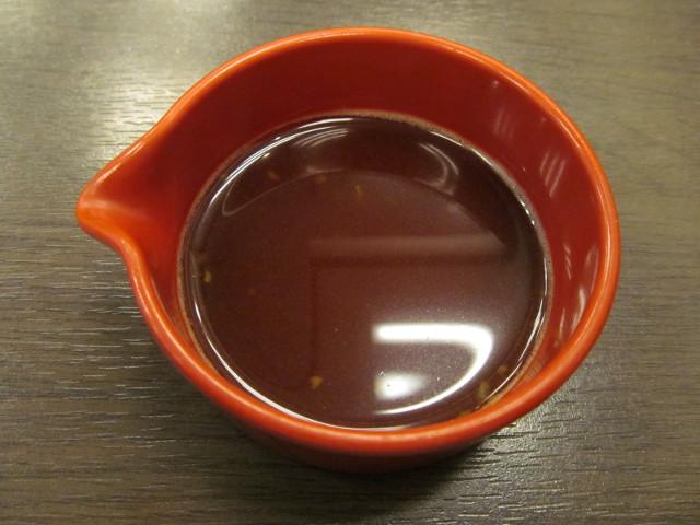 なか卯の本わさびと醤油をまぜまぜ終了20161109