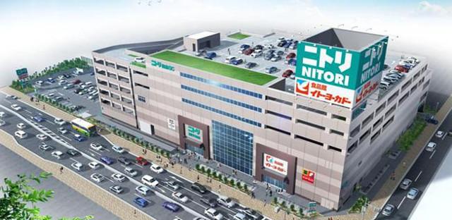 ニトリ環七梅島店外観イメージ