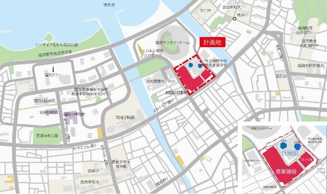 マークイズ福岡HTM計画地地図640