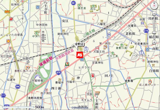 ケーズデンキ倉敷店地図