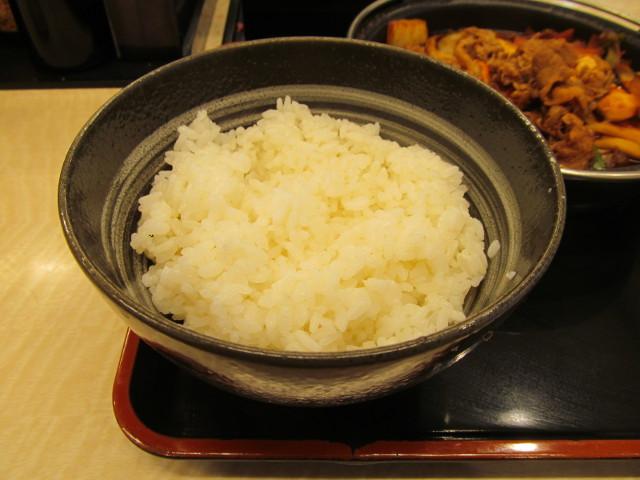 吉野家横浜デミ牛鍋膳大盛のライス
