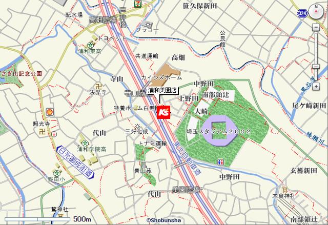 ケーズデンキ浦和美園店地図