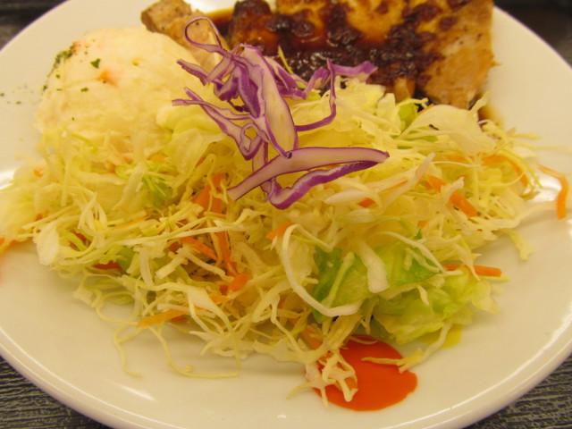 松屋厚切り豚テキ定食の生野菜